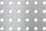 RU- round holes square pitch