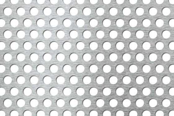 Perforated sheet R10 T15 Mild Steel