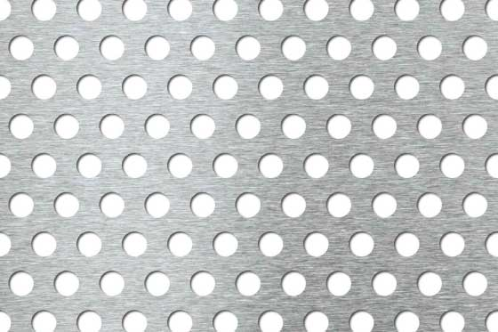 Perforated sheet R10 T18 Mild Steel