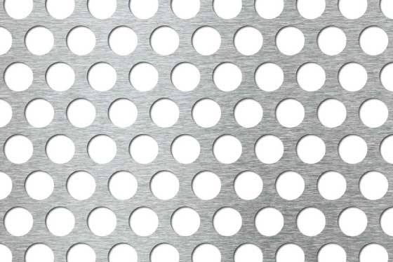 Perforated sheet R15 T21 Mild Steel