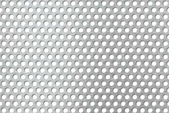 Perforated sheet R6 T9 Mild Steel