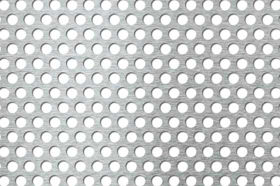Perforated sheet R8 T12 Mild Steel