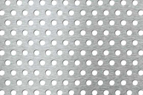 Perforated sheet R8 T16 Mild Steel