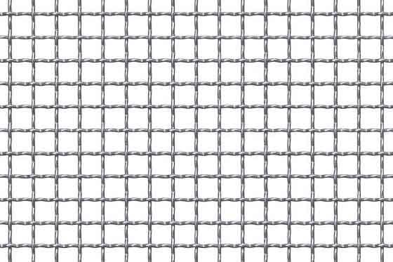 Crimped mesh 10x10