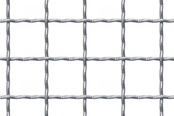 Crimped mesh 40x40