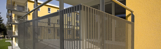 Balconies love perforated sheet