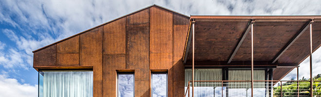 MEVACO uses corten steel to decorate wine estate in South Tyrol