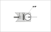 Profile bracket LR 27 for post tube