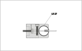 Profile bracket LR 27 for square tube