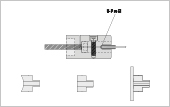 Profile bracket,  U-profile with adapter